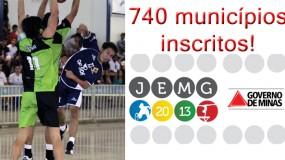 Número histórico do JEMG!!! Inscrições ultrapassam 86% dos municípios mineiros.