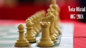 Publicada a nota oficial 007/2018 – Alteração de local de competição da modalidade de xadrez da SRE Metropolitana B (sede Sarzedo)