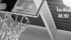 Publicada a nota oficial 010/2018 – Alteração de local de competição da modalidade de basquete da SRE Governador Valadares (sede Governador Valadares)