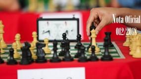 Publicada a nota oficial 012/2018 – Alteração de local de competição da modalidade de xadrez da SRE Guanhães (sede Santa Maria do Suaçuí)