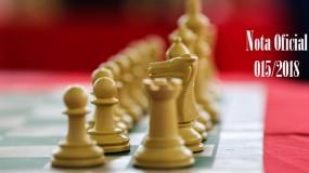 Publicada a nota oficial 015/2018 – Alteração de local de competição da modalidade de xadrez da regional Norte (sede Montes Claros)