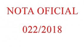 Publicada a nota oficial 022/2018 – Referente à publicação dos Acórdãos 003/2018, 004/2018 e 005/2018 da segunda sessão de julgamento da Comissão Disciplinar do JEMG/2018