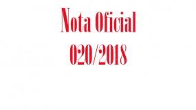 Publicada a nota oficial 020/2018 – Proibição de utilização de logomarcas institucionais da administração pública estadual nos uniformes dos participantes da etapa estadual do JEMG/2018