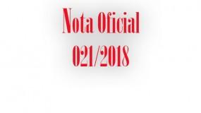 Publicada a nota oficial 021/2018 – Alteração dos locais de competição das modalidades de futsal módulo I e judô da etapa estadual em Uberaba