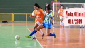 Publicada a nota oficial 014/2019 – Alteração de local e horário dos jogos da SRE Teófilo Otoni (sede Itaipé)
