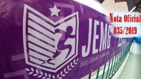 Publicada a nota oficial 035/2019 – Alteração do local dos jogos de basquetebol feminino da Etapa Estadual do JEMG/2019