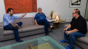 Prefeito de Uberlândia recebe o presidente da FEEMG para acertar os últimos detalhes para a estadual