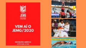 Abertas as inscrições para o JEMG/2020! Garanta a presença do seu município!