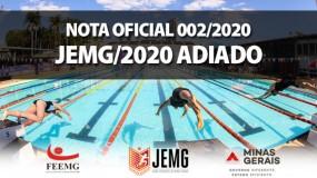 JEMG/2020 é adiado por tempo indeterminado