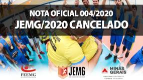 Devido à pandemia, JEMG/2020 está cancelado. Confira a nota oficial 004/2020