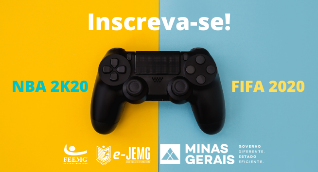 JEMG no mundo virtual com NBA 2K20 e FIFA 2020. Inscreva-se!