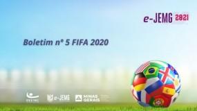 Boletim nº 5 do campeonato FIFA 20 já está disponível. Acesse!