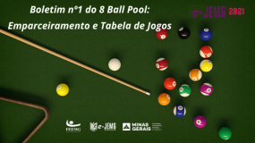 e-JEMG/2021: Publicado o boletim 1 da modalidade de 8 Ball Pool.