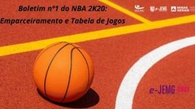 e-JEMG/2021:  Boletim 1 do NBA 2K20 já está disponível.