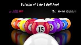 8 Ball Pool e-JEMG/2021: Confira a publicação do Boletim nº 6.