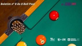 8 Ball Pool e-JEMG/2021: Dia de Finais. Confira a publicação do Boletim nº 8